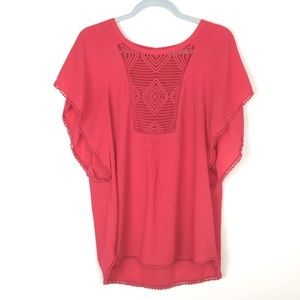 Anthropologie Red Top L